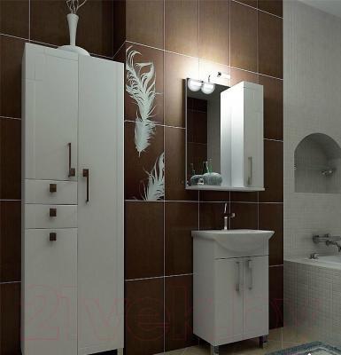 Шкаф с зеркалом для ванной Triton Диана 60 (002.42.0600.101.01.01 R) - в интерьере