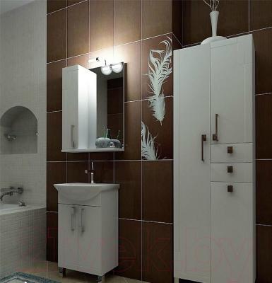 Шкаф с зеркалом для ванной Triton Диана 65 (002.42.0650.101.01.01 L) - в интерьере
