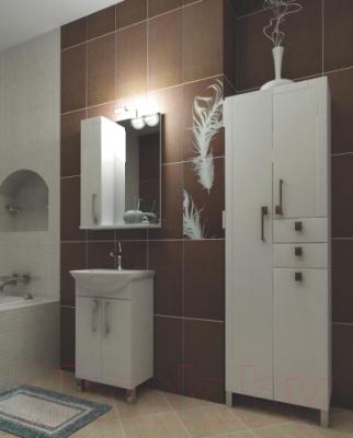 Шкаф-пенал для ванной Triton Диана 60 с корзиной (002.11.0600.202.01.01 R)