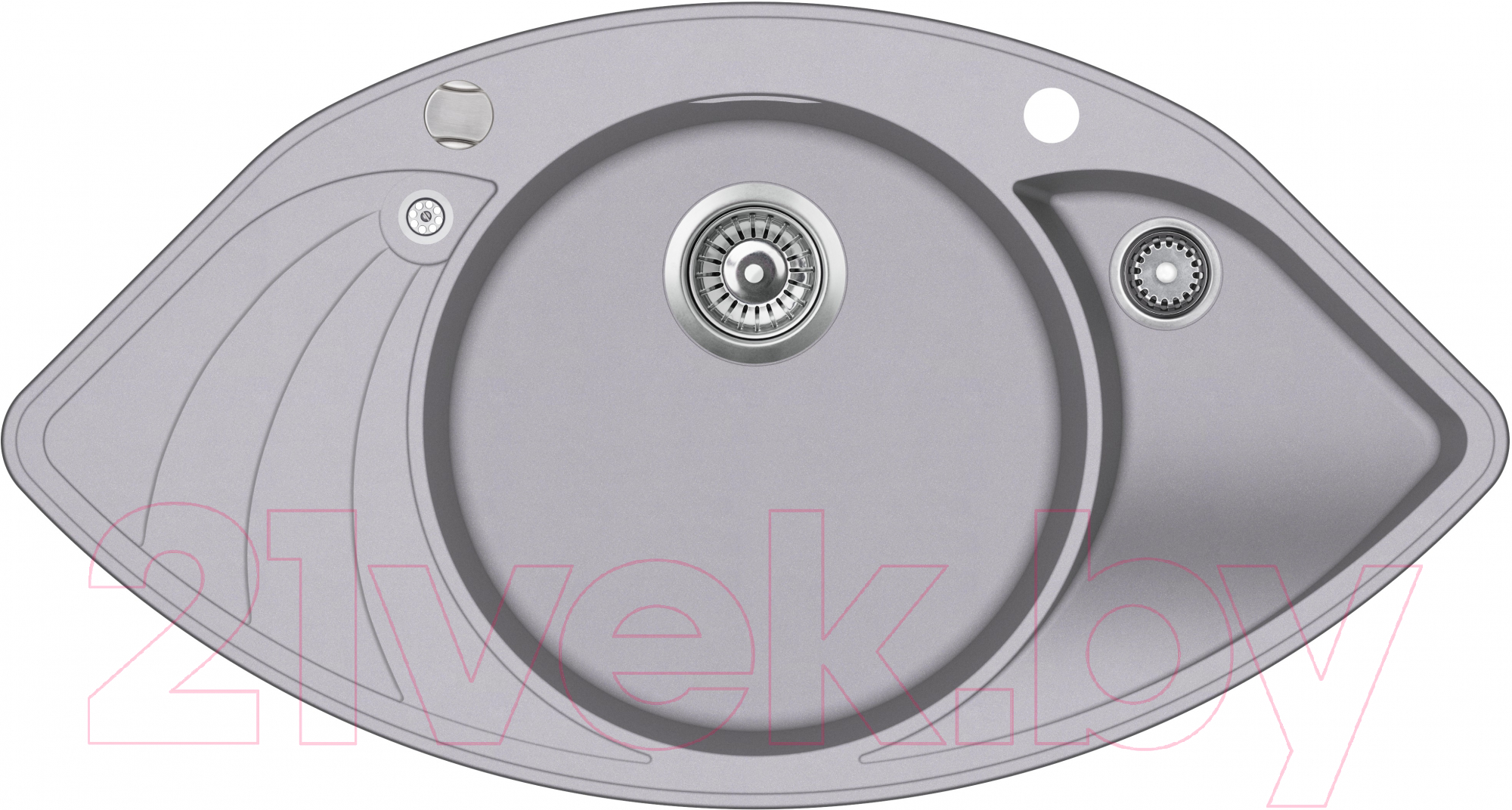 Купить Мойка кухонная Aquasanita, Papillon SCP151AW (алюметаллик), Литва, кварцевый песок