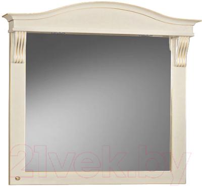 Зеркало для ванной Belux Каталония В105 (37, слоновая кость/патина золото)