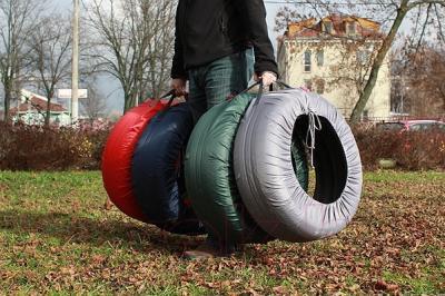 Чехол для колес ТрендБай Коверин 200 (синий) - переноска