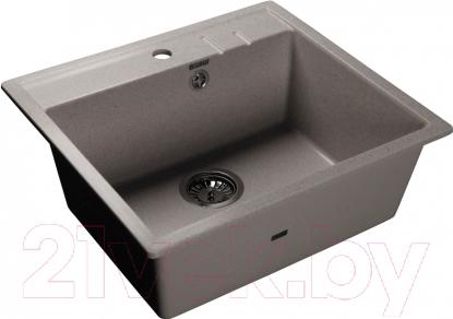Купить Мойка кухонная GranFest, Quadro GF-Q560 (серый), Россия, искусственный мрамор
