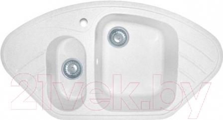 Купить Мойка кухонная GranFest, Corner GF-C960E (белый), Россия, искусственный камень
