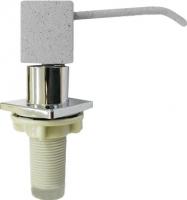 Дозатор встраиваемый в мойку GranFest Квадрат 004 (серый) -