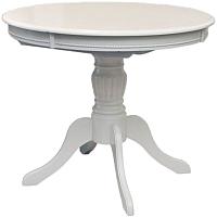 Обеденный стол Домовой OL-T4EX (кремовый белый) -