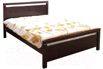 Двуспальная кровать Eurotrend 1.6-REDANG-SW-WSR-BW (капучино)