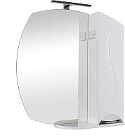 Шкаф с зеркалом для ванной Аква Родос Глория ZGLP75R / АР0002086 -