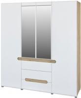 Шкаф Мебель-Неман Леонардо МН-026-09 (белый полуглянец/дуб Сонома) -