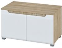 Тумба Мебель-Неман Леонардо МН-026-33 (белый полуглянец/дуб Сонома) -