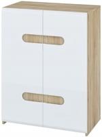 Тумба Мебель-Неман Леонардо МН-026-34 (белый полуглянец/дуб Сонома) -