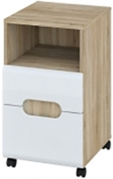 Тумба Мебель-Неман Леонардо МН-026-15 (белый полуглянец/дуб Сонома) -