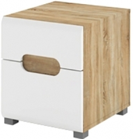 Прикроватная тумба Мебель-Неман Леонардо МН-026-06 (белый полуглянец/дуб Сонома) -