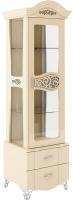 Шкаф с витриной Мебель-Неман София МН-025-14 (кремовый глянец) -