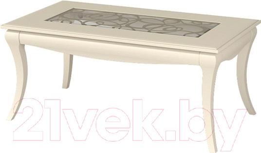 Купить Журнальный столик Мебель-Неман, Гармония МН-120-03 (кремовый/патина), Беларусь