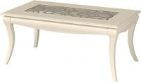 Журнальный столик Мебель-Неман Гармония МН-120-03 (кремовый/патина) -