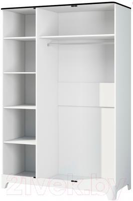 Шкаф Мебель-Неман Верона МН-024-03 (белый глянец) - внутреннее пространство