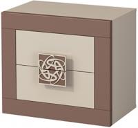 Прикроватная тумба Мебель-Неман Эллипс МН-118-02 (св.-коричневый глянец/капучино) -