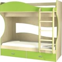 Двухъярусная кровать Мебель-Неман Комби МН-211-06 (береза/лайм) -