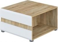 Журнальный столик Мебель-Неман Леонардо МН-026-04 (белый полуглянец/дуб Сонома) -