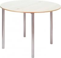 Обеденный стол Древпром М2 90x50 (жемчуг/металлик) -