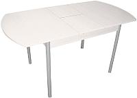 Обеденный стол Древпром М3 120x78 (металлик/жемчуг) -