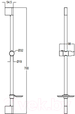 Душевая стойка Bravat D141CP