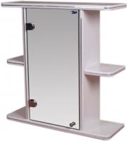 Шкаф с зеркалом для ванной Гамма 10 (белый, левый) -