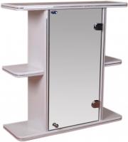 Шкаф с зеркалом для ванной Гамма 10 (белый, правый) -