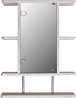 Шкаф с зеркалом для ванной Гамма 10/1 (белый, левый) -