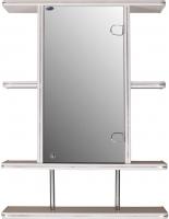 Шкаф с зеркалом для ванной Гамма 10/1 (белый, правый) -