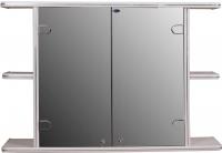 Шкаф с зеркалом для ванной Гамма 11 (белый) -