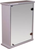 Шкаф с зеркалом для ванной Гамма 13 (белый, правый) -