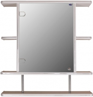Шкаф с зеркалом для ванной Гамма 15/1 (белый, левый) -