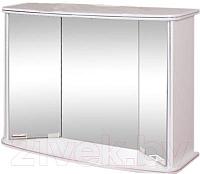 Шкаф с зеркалом для ванной Гамма 19 (белый) -