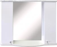 Шкаф с зеркалом для ванной Гамма 08т (белый, двухстворчатый) -