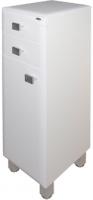 Шкаф-полупенал для ванной Гамма 31.25 оФ2 (белый, с ящиком, левый) -