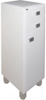 Шкаф-полупенал для ванной Гамма 31.25 оФ2 (белый, с ящиком, правый) -
