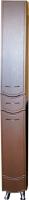 Шкаф-пенал для ванной Гамма Люкс 51.20 ОФ2 (древопод. с фрезеровкой, правый) -