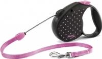 Поводок-рулетка Flexi Color Dots FLX444 (M, розовый) -