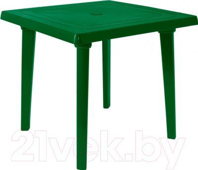 Стол пластиковый Алеана Квадратный 80x80 / 100012 (зеленый)