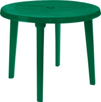 Стол пластиковый Алеана Круглый D90 (зеленый) -