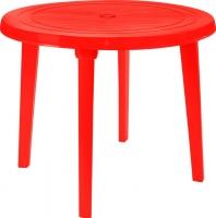 Стол пластиковый Алеана Круглый D90 (красный) -