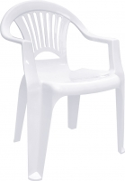 Стул пластиковый Алеана Луч / 101053 (белый) -