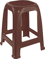 Табурет пластиковый Алеана Пиф (темно-коричневый) -
