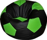 Бескаркасное кресло Flagman Мяч Стандарт М1.1-24 (черный/салатовый) -