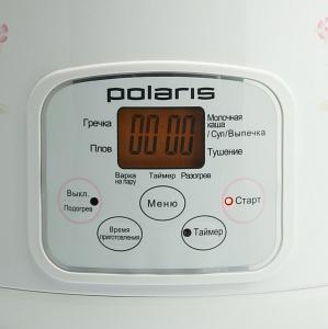 Мультиварка Polaris PMC 0508D (белый) - дисплей