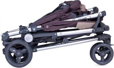 Детская прогулочная коляска Euro-Cart Lira 3 Pistachio - в сложенном виде