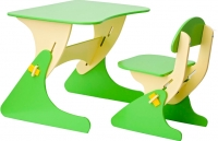 Комплект мебели с детским столом Столики Детям Буслик Б-БС (бежевый/салатовый) -