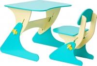 Комплект мебели с детским столом Столики Детям Буслик Б-ББ (бежевый/бирюзовый) -